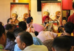 """Kaum de Heere"" movie team members press conference at Chandigarh"