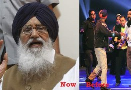 Under the shoe attack Punjab CM Parkash Singh Badal at Isru
