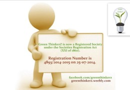 Green ThinkerZ is now a Registered Society