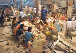 Amritsar, Golden Temple Langar( Kitchen ) in full swing for Kashmir Flood Victims.