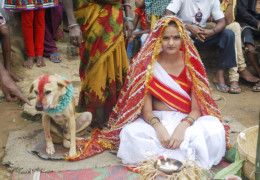 A girl married to dog in the home of superstitions – INDIA