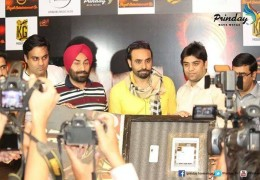 Babbu Mann & Star Cast team of Baaz held Press Conference in Chandigarh