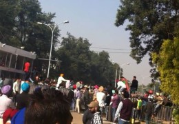 Students-Police clash in Punjabi University Patiala
