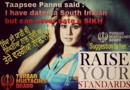 Racist Slur Against Sikhs By ‪‎Taapsee‬ ‪Pannu‬ Puts SARDARS Bad Light