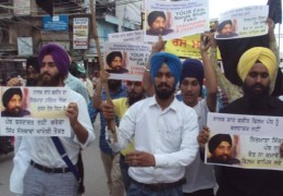 Sikh youth activists took to streets of Amritsar against controversial movie Nanak Shah Fakir