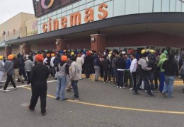 Sikhs protest outside Strawberry Hills Cinemas at Surrey against screening of controversial Nanak Shah Fakir film