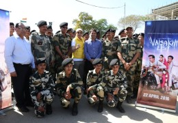 Jimmy Sheirgill's movie Vaisakhi List' theatrical released with the Jawans at Wagah border