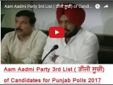 <b>Aam Aadmi Party's 3rd Lis...</b>