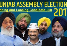 Full List Of Winning & Loosing Candidate In Punjab Assembly Elections 2017